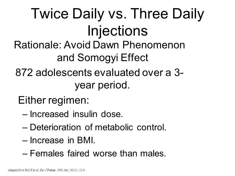 Twice Daily vs. Three Daily Injections