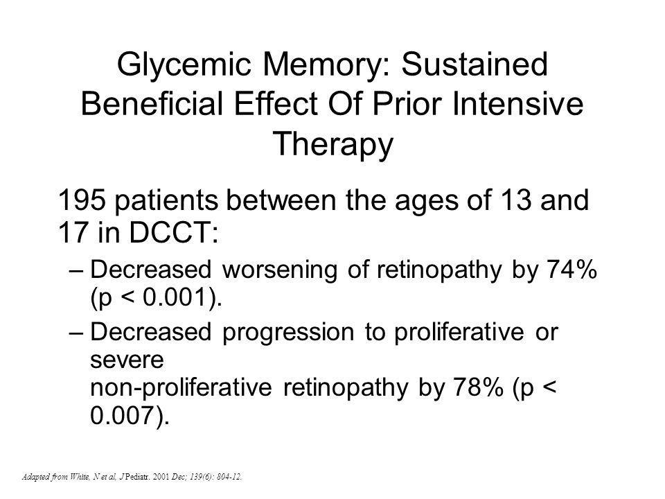195 patients between the ages of 13 and 17 in DCCT: