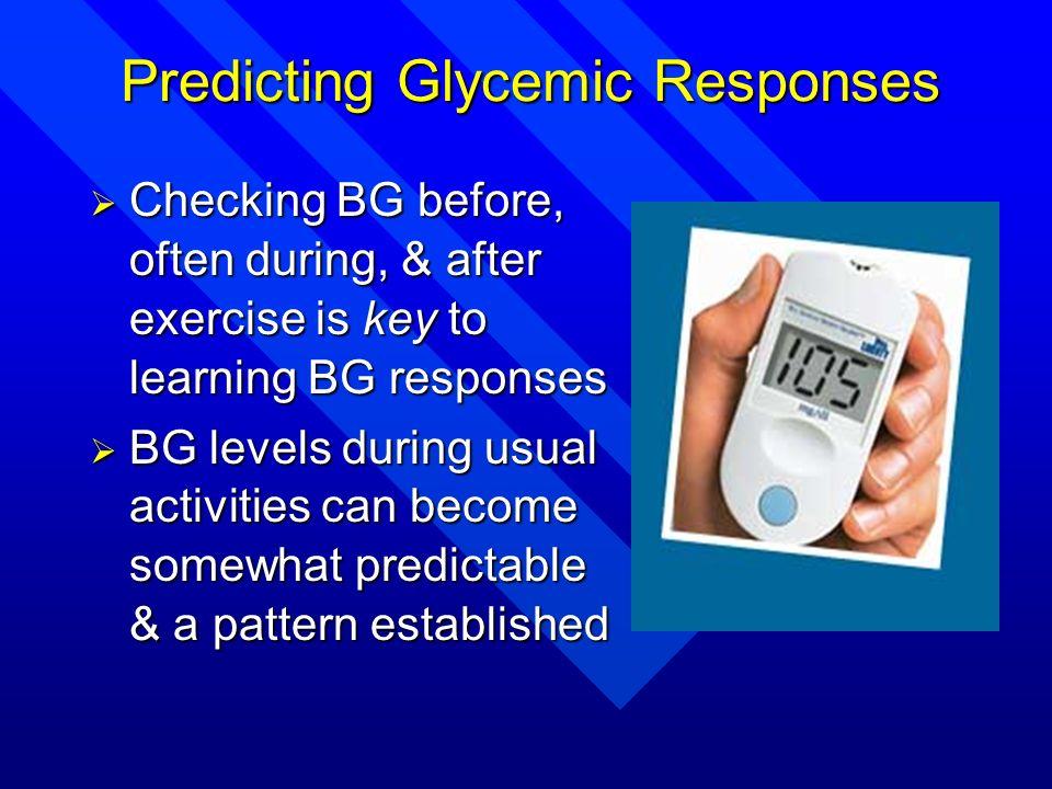 Predicting Glycemic Responses
