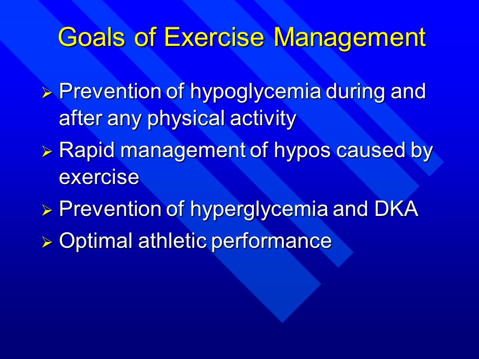 Goals of Exercise Management