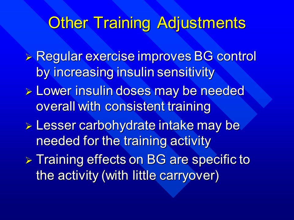 Other Training Adjustments