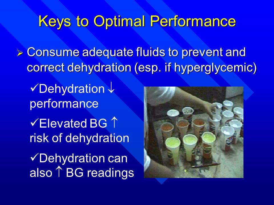Keys to Optimal Performance