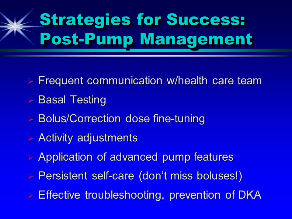 Strategies for Success: Post-Pump Management