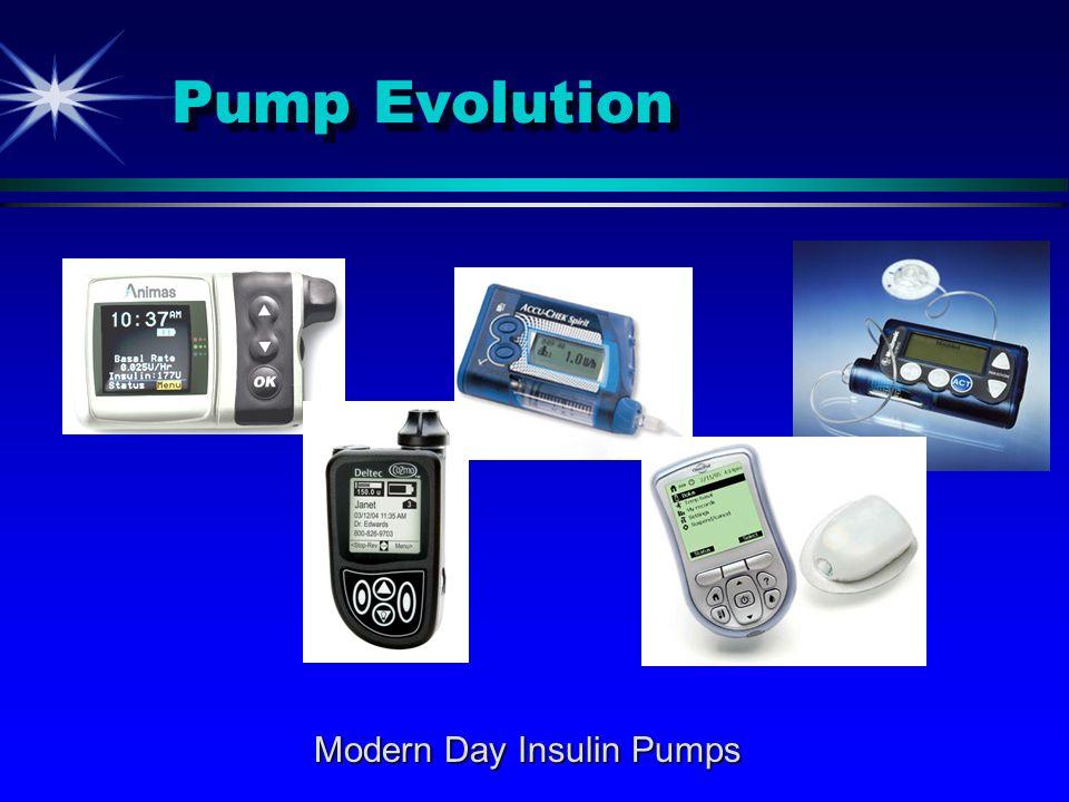 Pump Evolution Modern Day Insulin Pumps