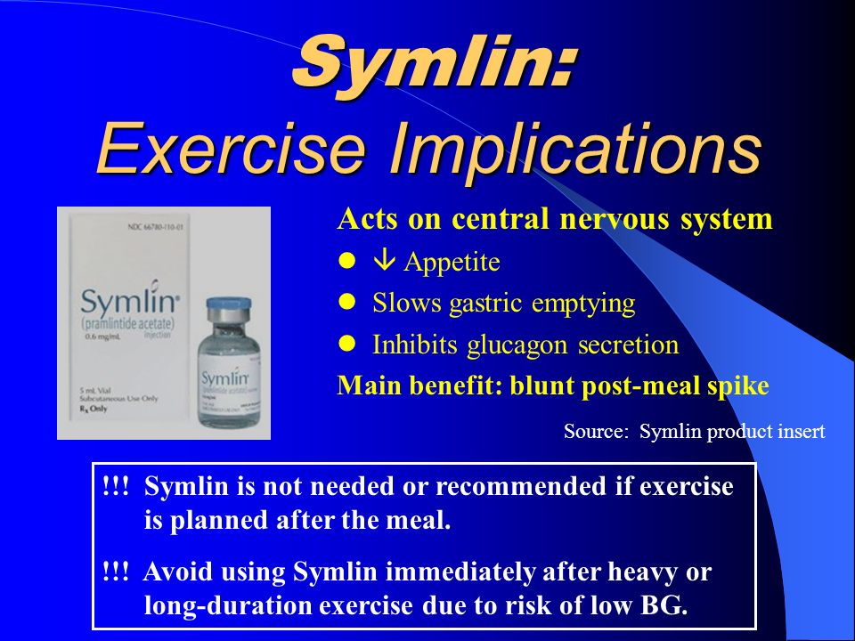 Symlin: Exercise Implications