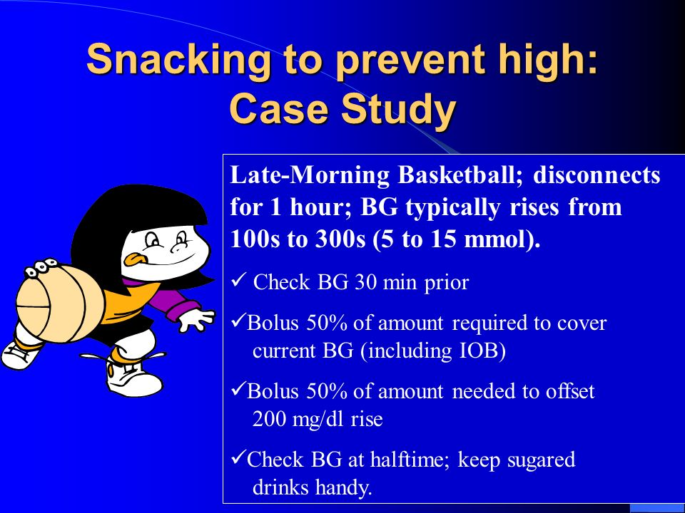 Snacking to prevent high: Case Study