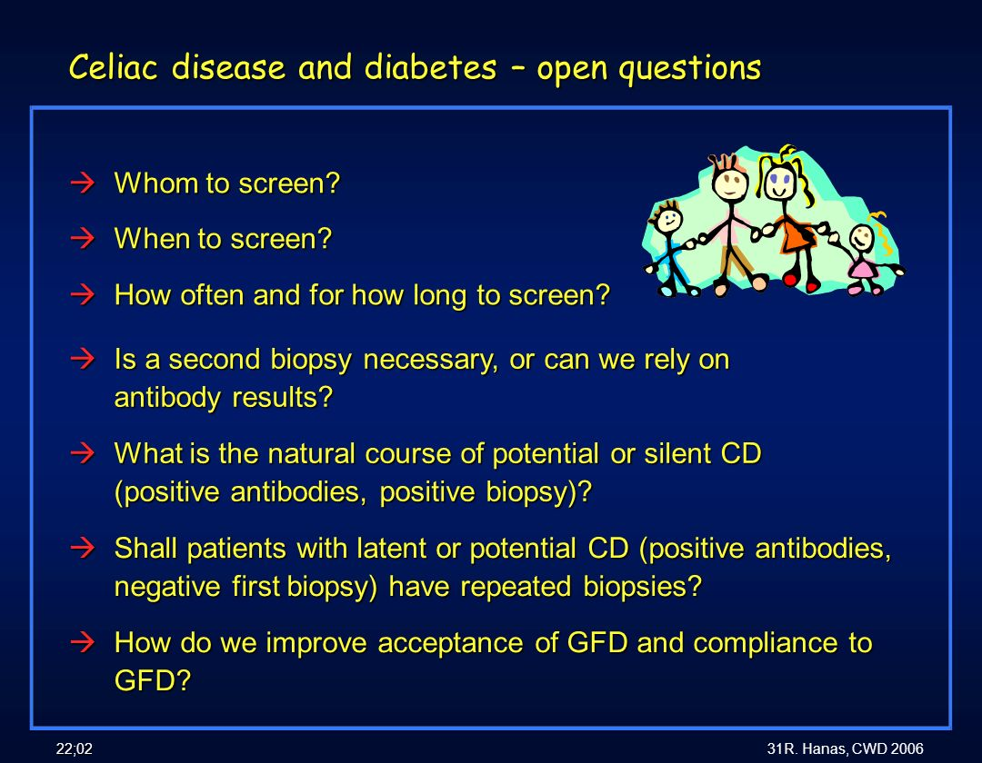 Celiac disease and diabetes – open questions
