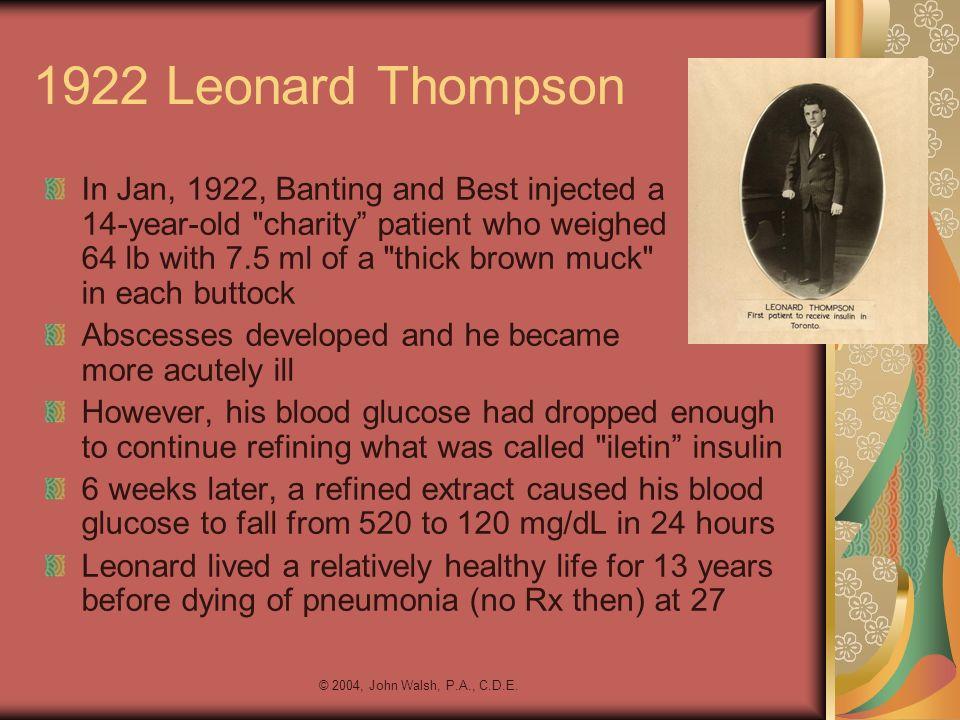 1922 Leonard Thompson