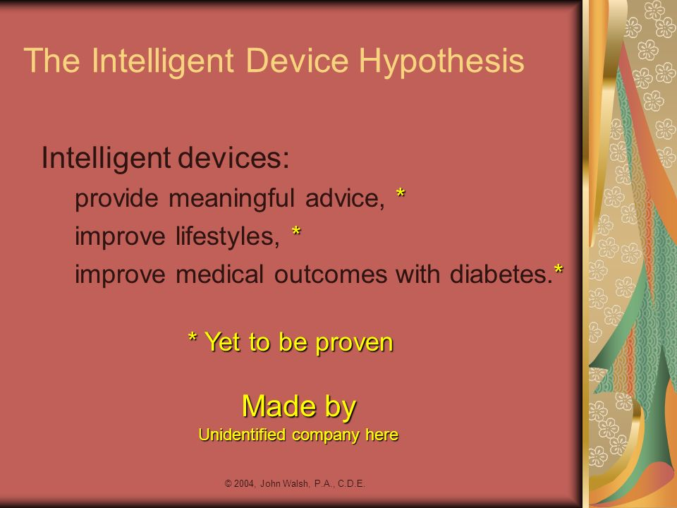 The Intelligent Device Hypothesis