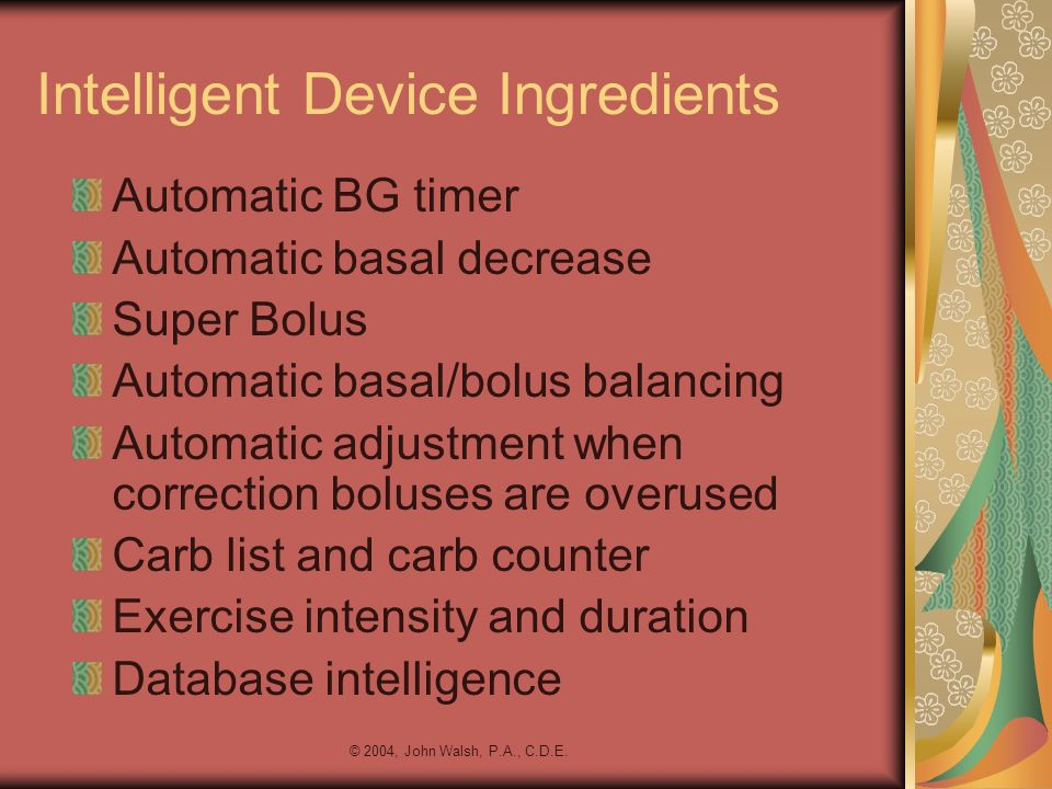 Intelligent Device Ingredients