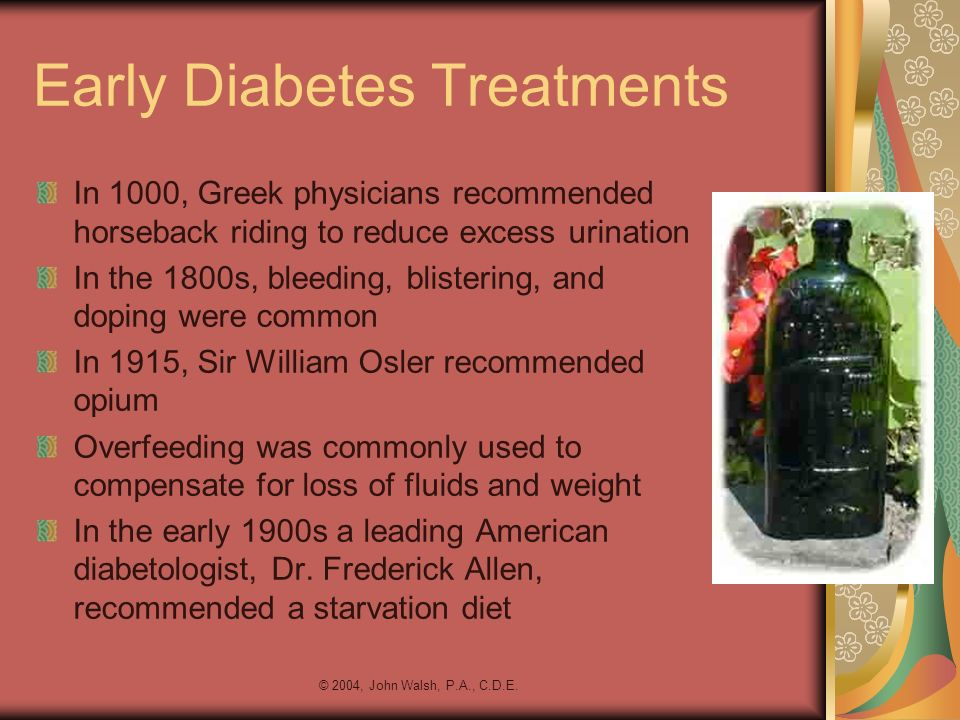 Early Diabetes Treatments