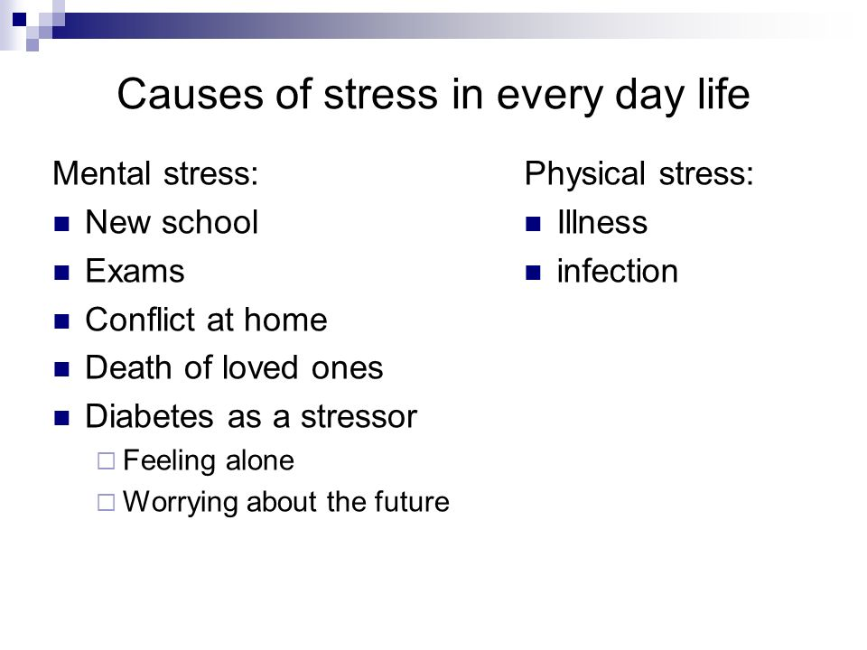 Causes of stress in every day life