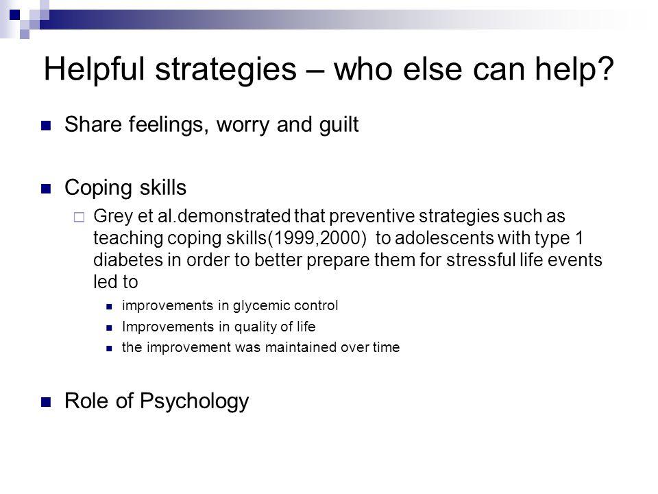 Helpful strategies – who else can help