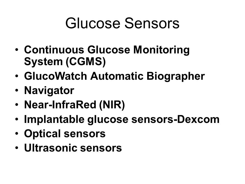 Glucose Sensors Continuous Glucose Monitoring System (CGMS)