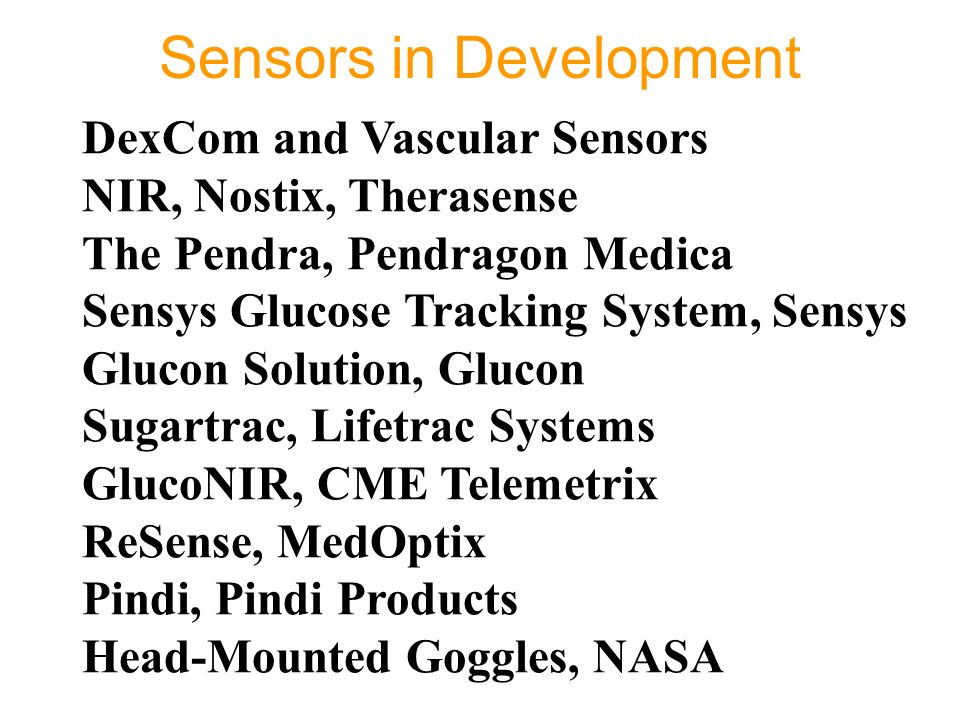 Sensors in Development