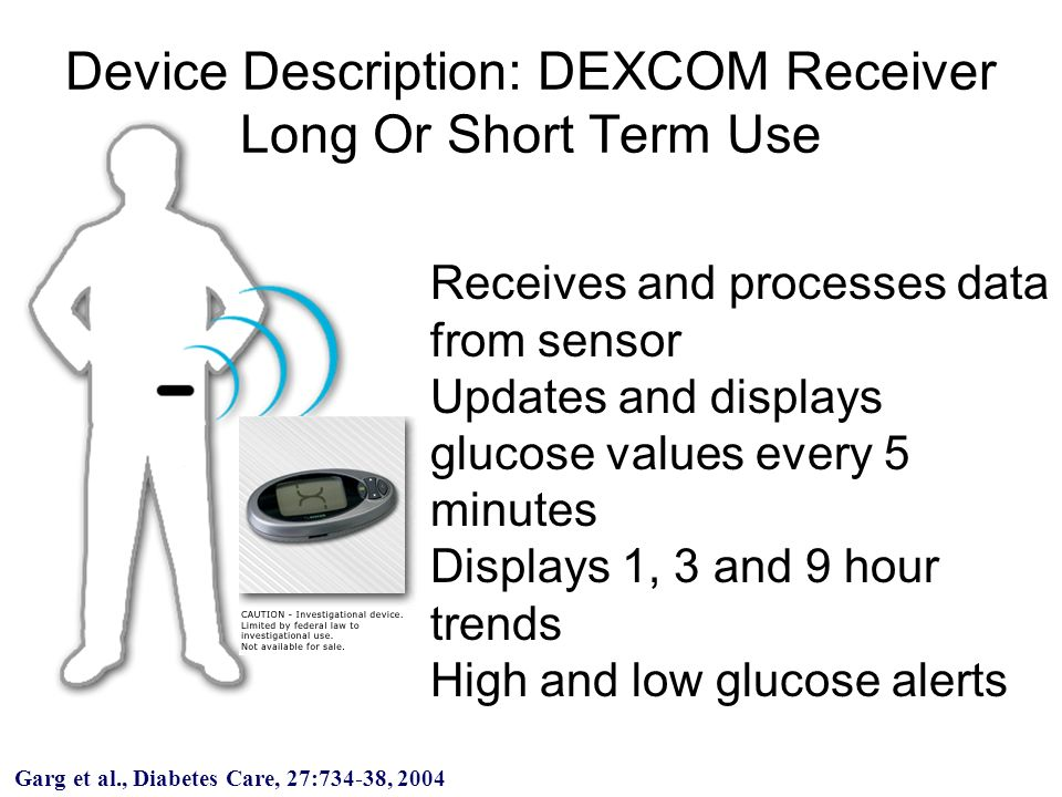 Device Description: DEXCOM Receiver Long Or Short Term Use