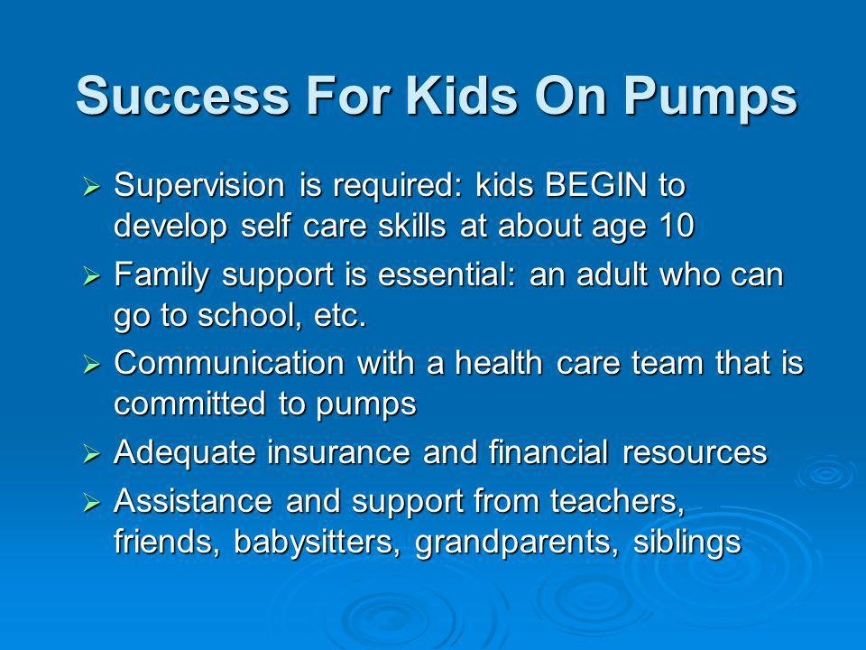 Success For Kids On Pumps