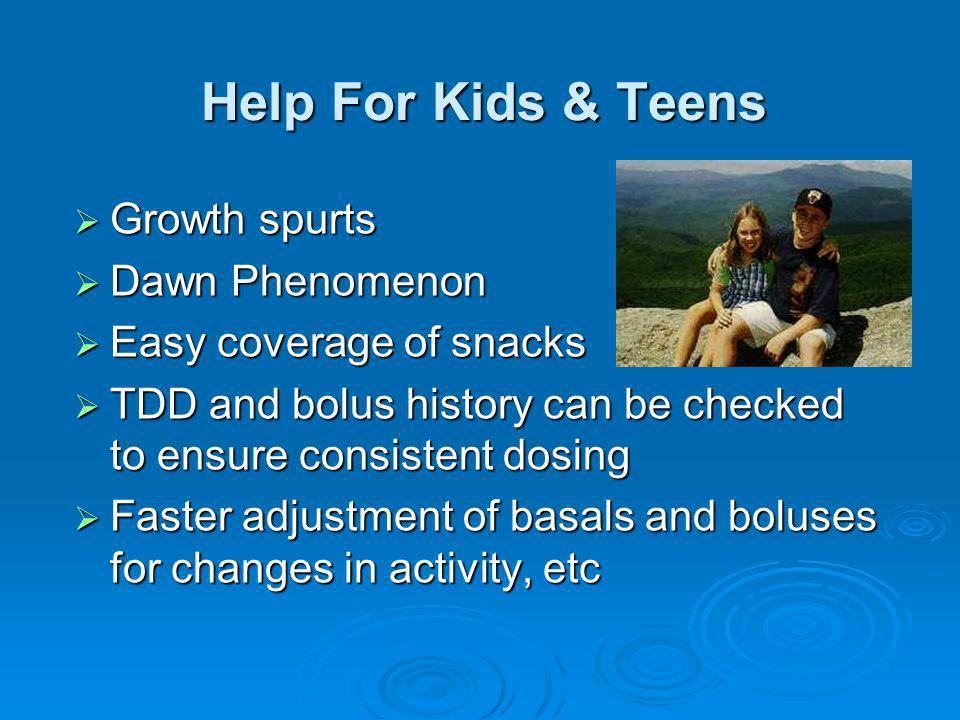 Help For Kids & Teens Growth spurts Dawn Phenomenon