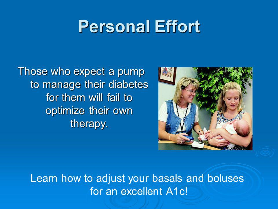 Learn how to adjust your basals and boluses for an excellent A1c!