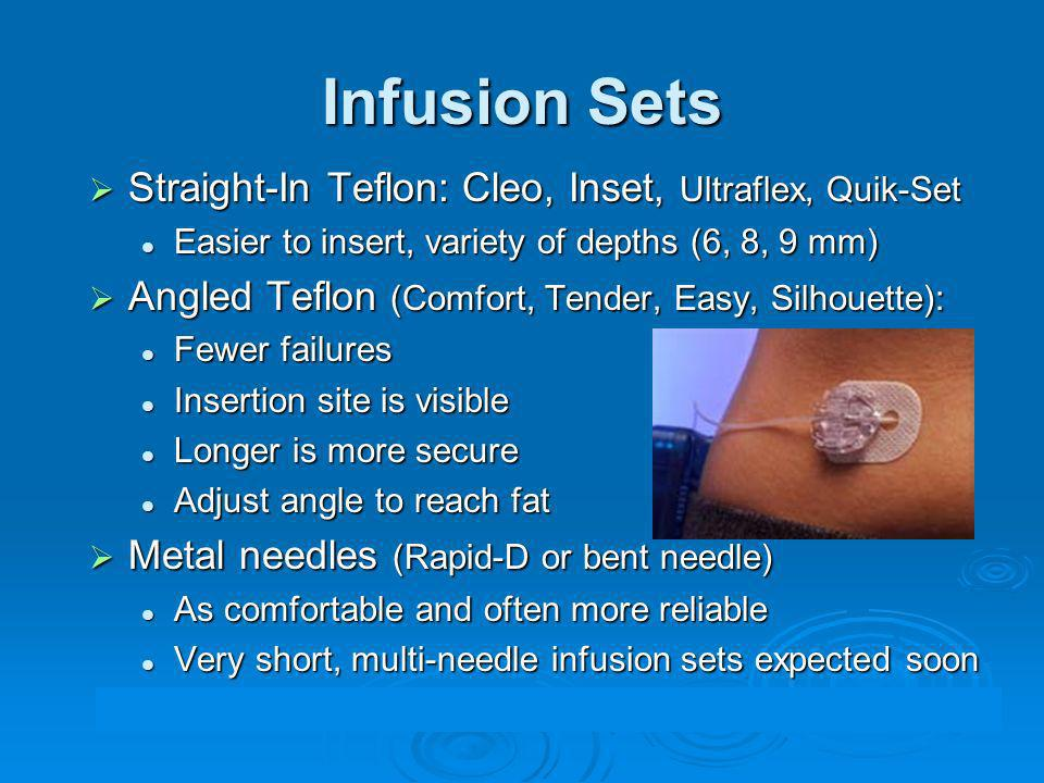 Infusion Sets Straight-In Teflon: Cleo, Inset, Ultraflex, Quik-Set