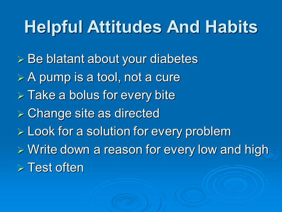 Helpful Attitudes And Habits