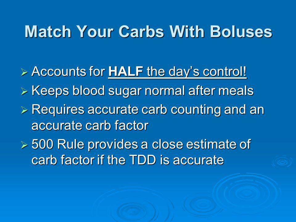 Match Your Carbs With Boluses