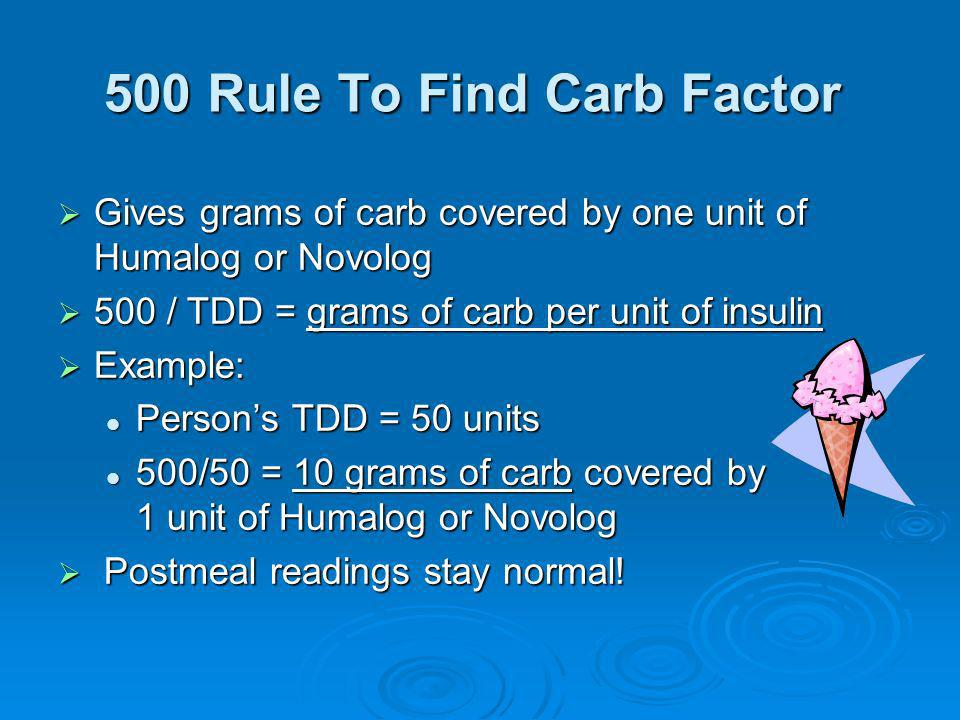 500 Rule To Find Carb Factor