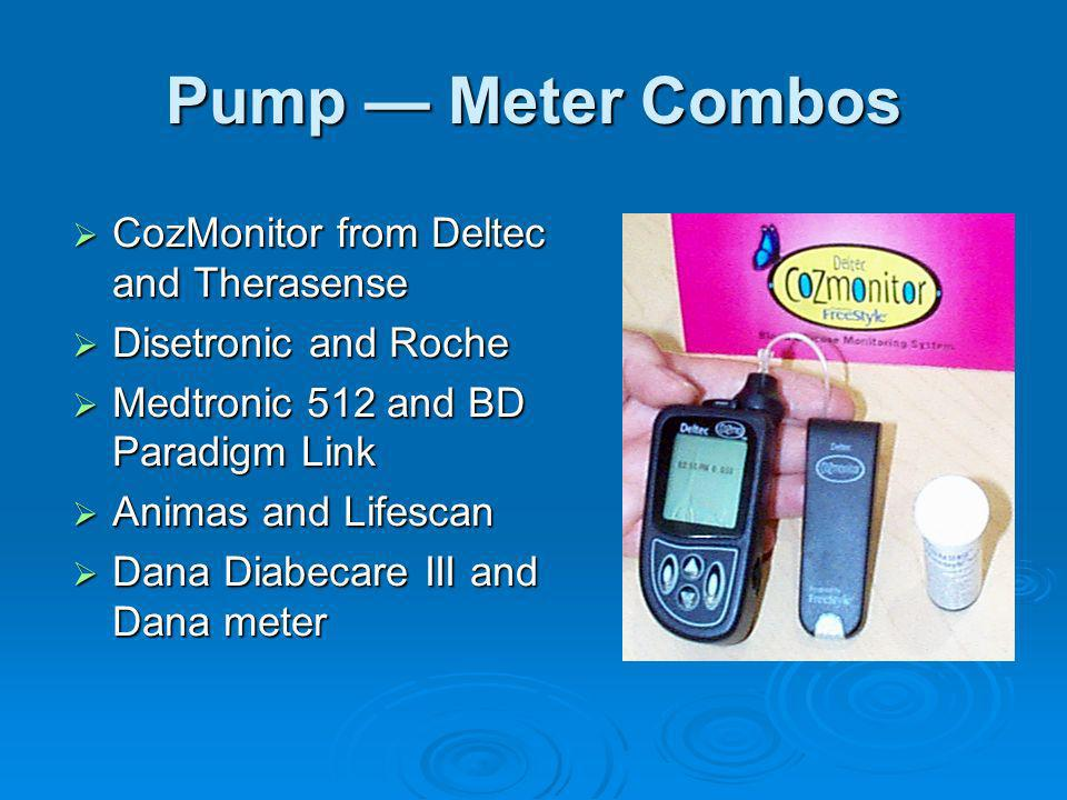 Pump — Meter Combos CozMonitor from Deltec and Therasense