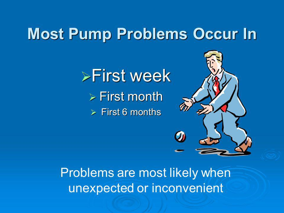 Most Pump Problems Occur In