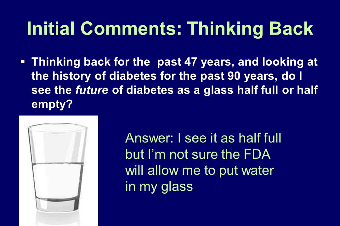 Initial Comments: Thinking Back