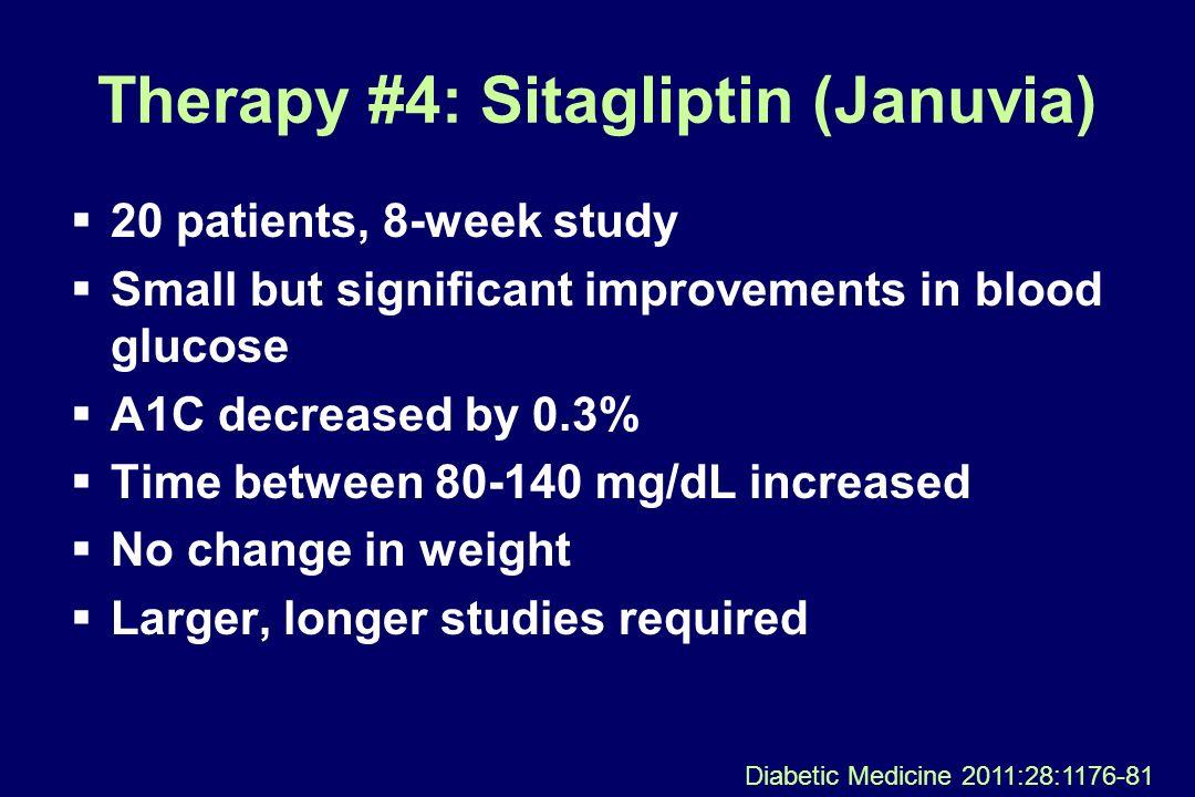 Therapy #4: Sitagliptin (Januvia)