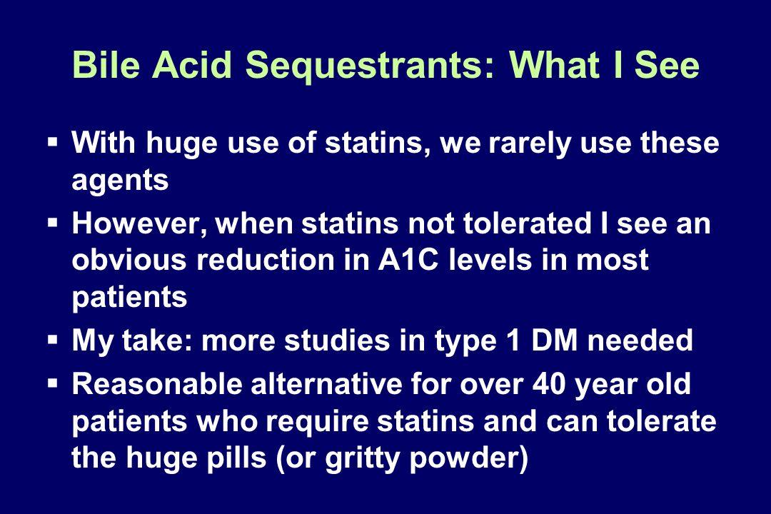Bile Acid Sequestrants: What I See