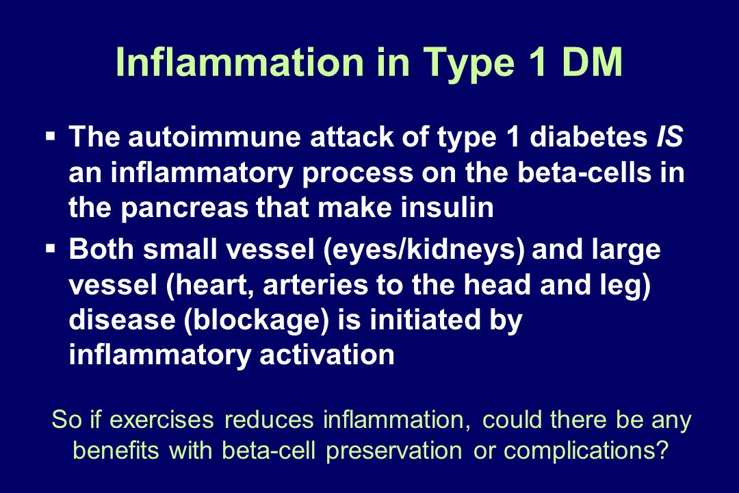 Inflammation in Type 1 DM