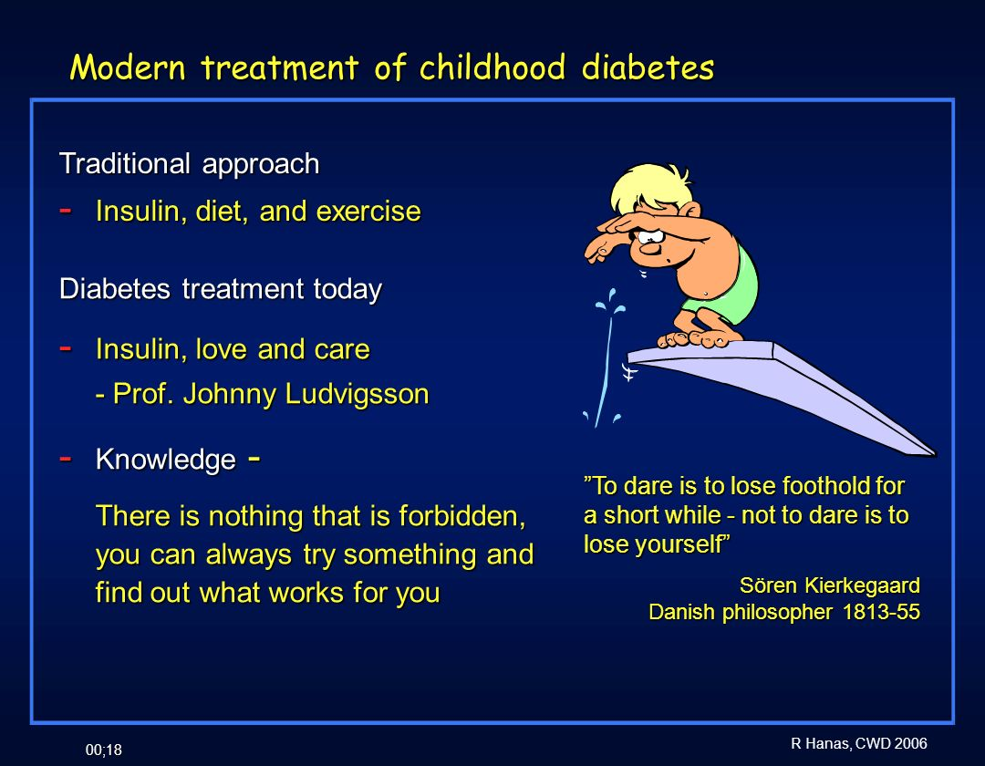 Modern treatment of childhood diabetes