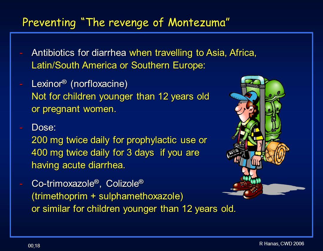 Preventing The revenge of Montezuma