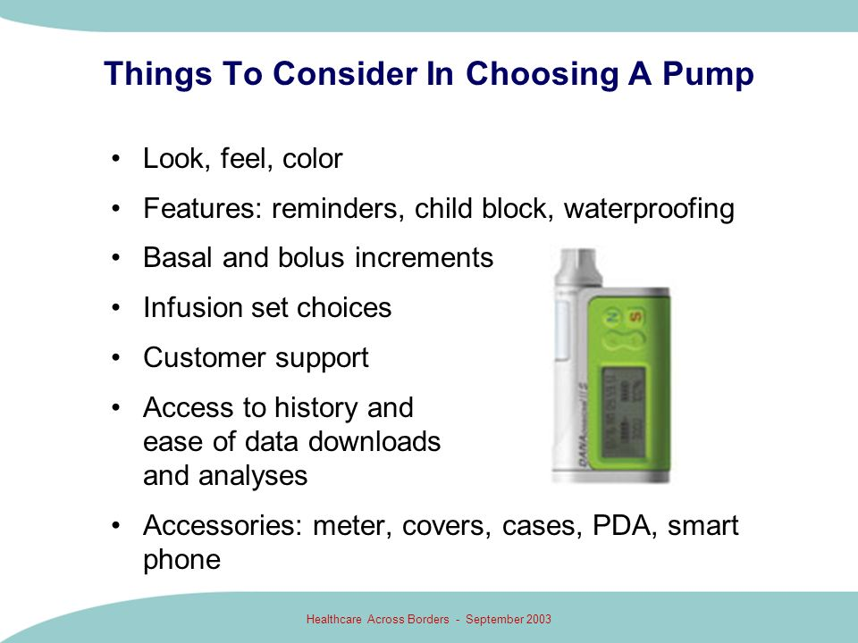 Things To Consider In Choosing A Pump