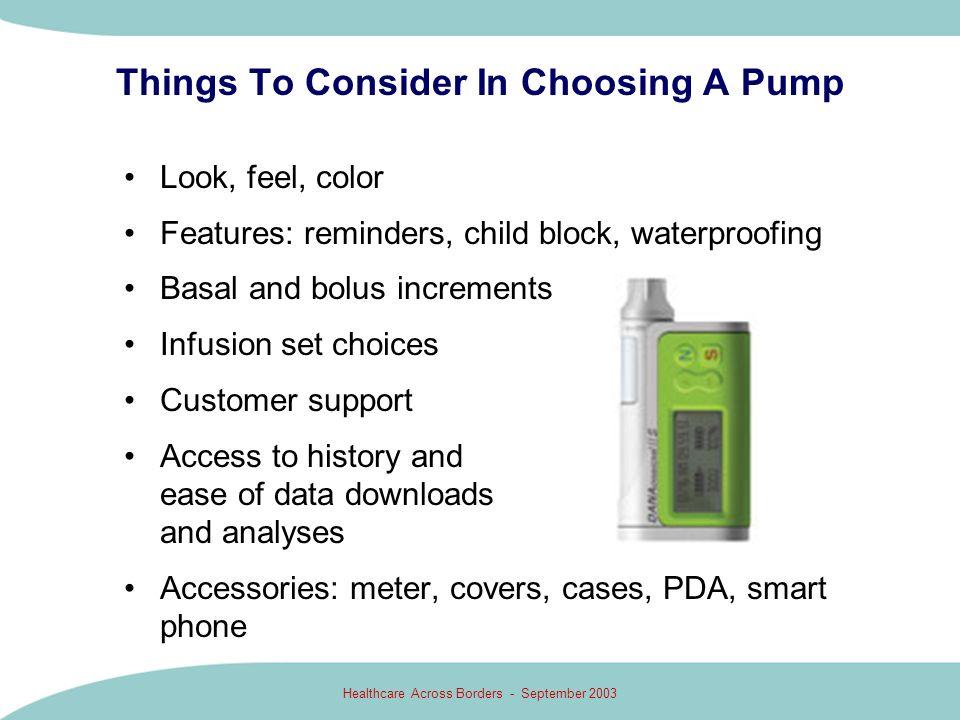 Things To Consider In Choosing A Pump