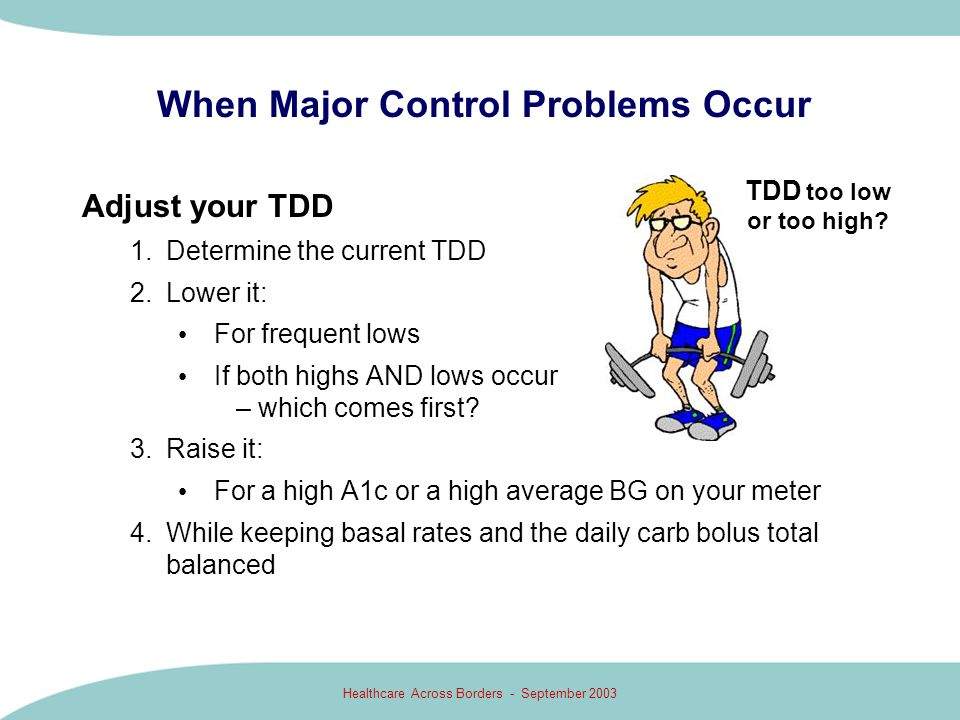 When Major Control Problems Occur