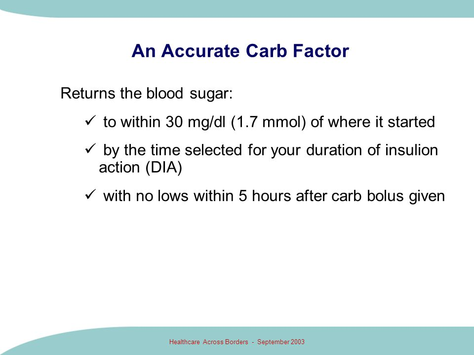 An Accurate Carb Factor
