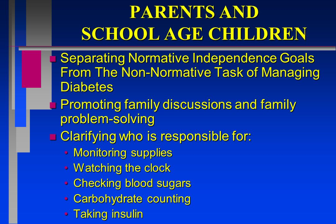 PARENTS AND SCHOOL AGE CHILDREN