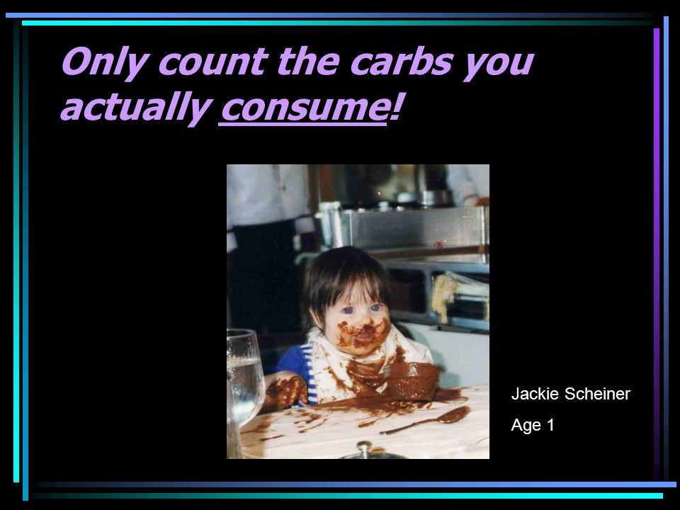 Only count the carbs you actually consume!