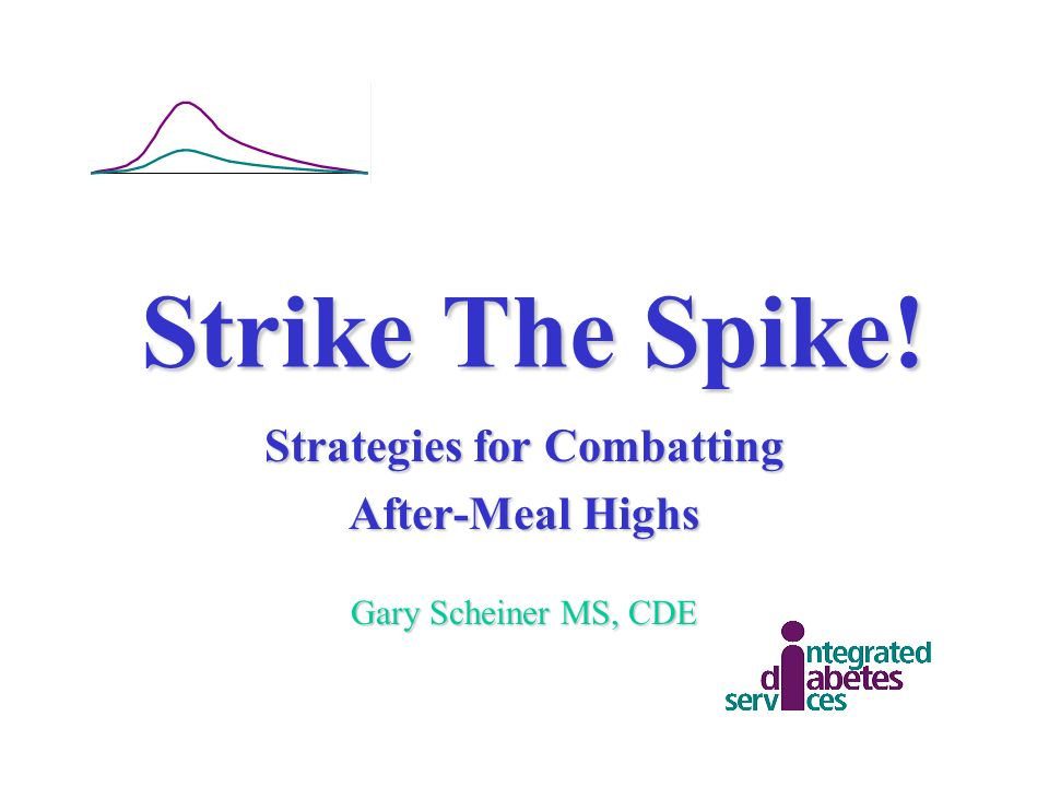 Strategies for Combatting After-Meal Highs Gary Scheiner MS, CDE