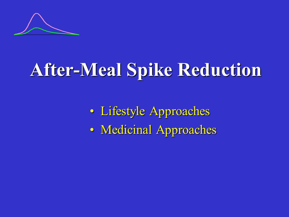 After-Meal Spike Reduction