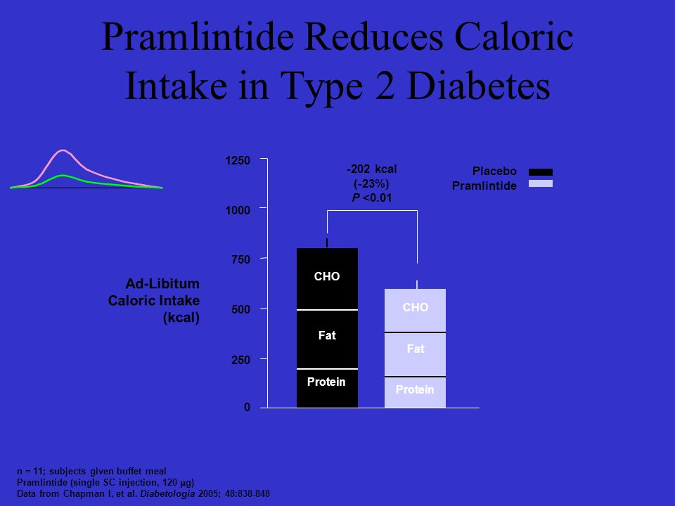 Pramlintide Reduces Caloric Intake in Type 2 Diabetes
