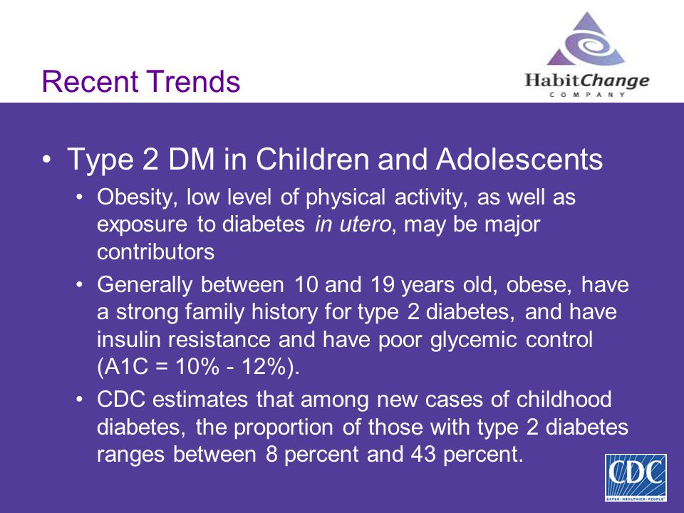 Type 2 DM in Children and Adolescents
