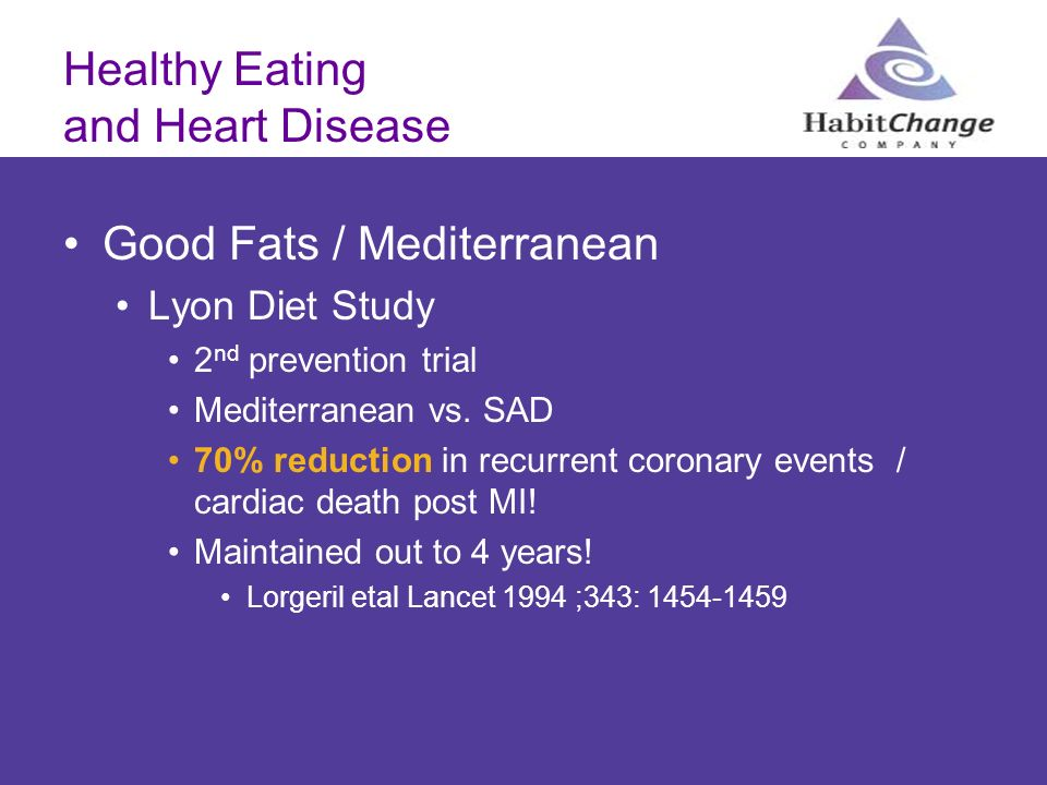 Healthy Eating and Heart Disease