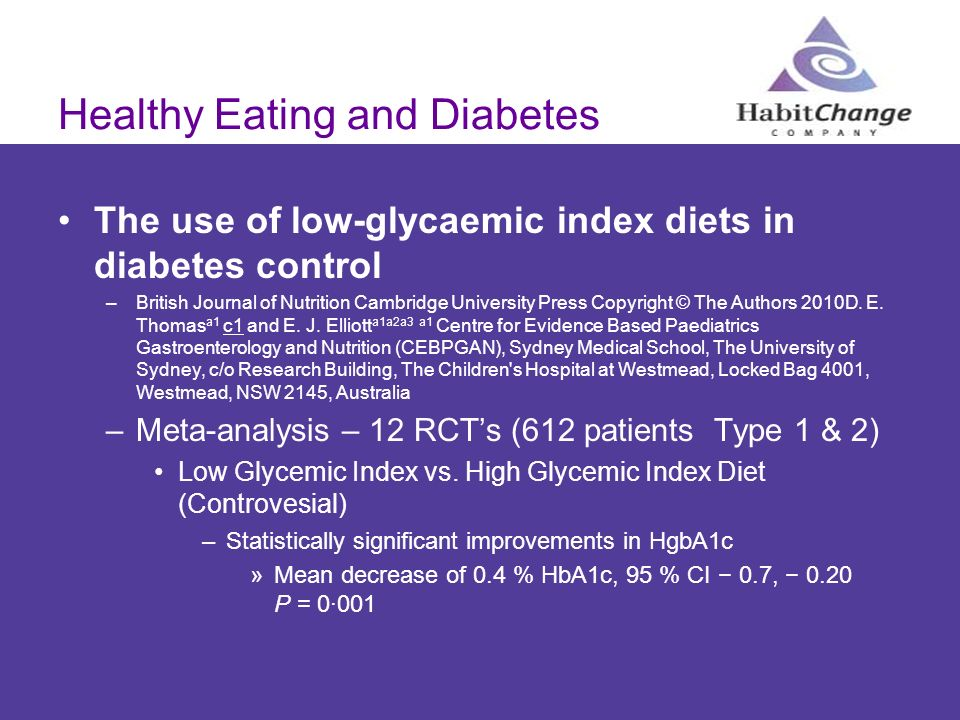 Healthy Eating and Diabetes