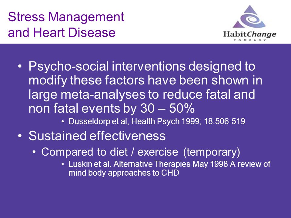 Stress Management and Heart Disease