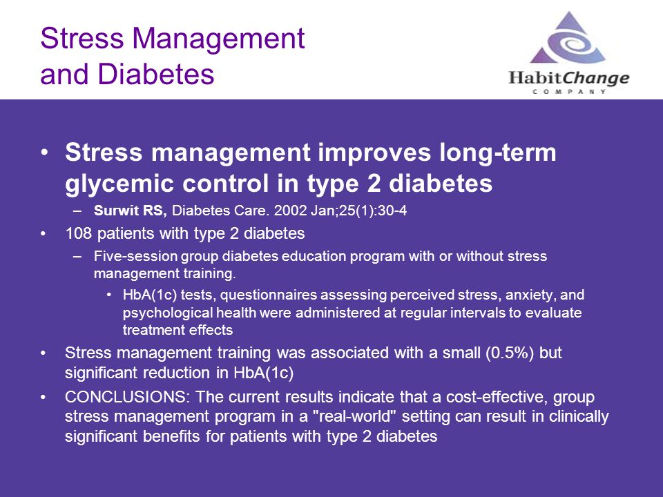 Stress Management and Diabetes