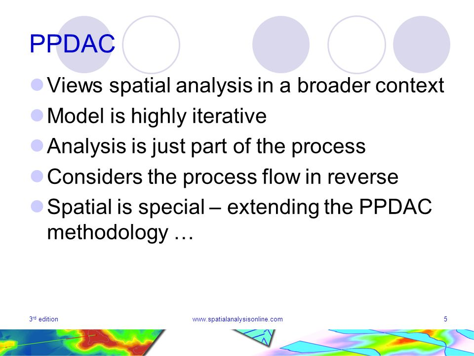 PPDAC Views spatial analysis in a broader context